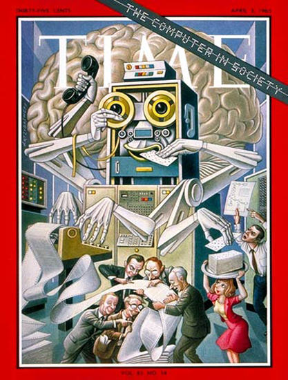 1965-04 Computer in Society Copyright Time Magazine | Time Magazine Covers 1923-1970