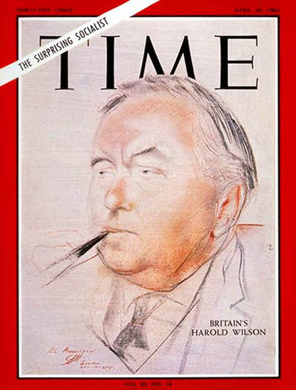 1965-04 Harold Wilson Copyright Time Magazine | Time Magazine Covers 1923-1970