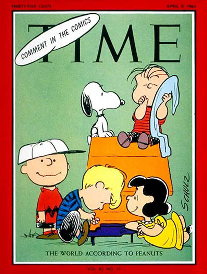 1965-04 World According To Peanuts Copyright Time Magazine | Time Magazine Covers 1923-1970