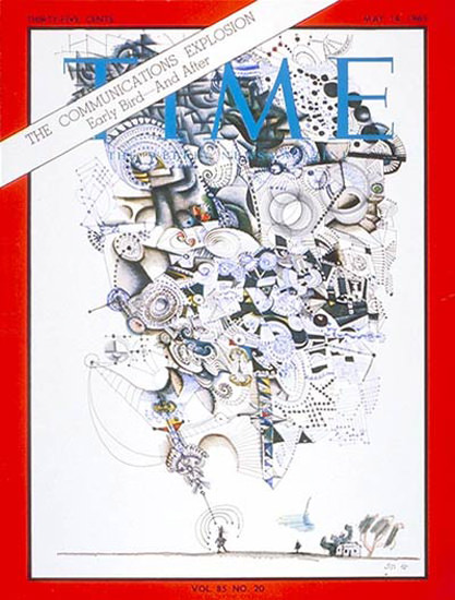 1965-05 Communications Explosion Copyright Time Magazine | Time Magazine Covers 1923-1970