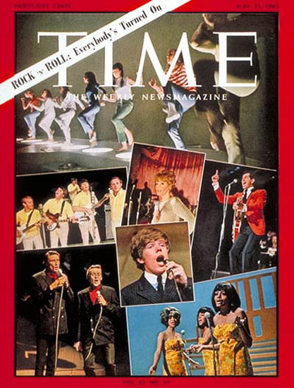 1965-05 Rock n Roll Turned On Copyright Time Magazine | Time Magazine Covers 1923-1970