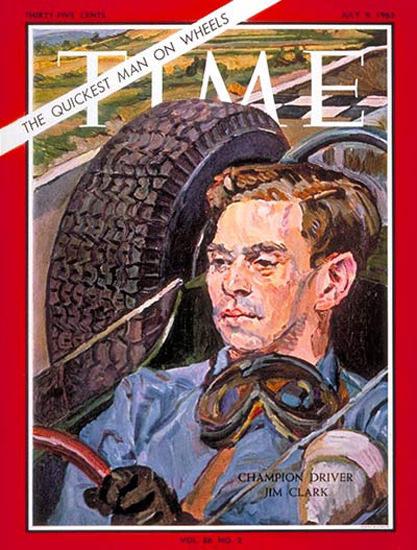 1965-07 Jim Clark Copyright Time Magazine | Time Magazine Covers 1923-1970