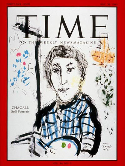 1965-07 Marc Chagall Copyright Time Magazine | Time Magazine Covers 1923-1970