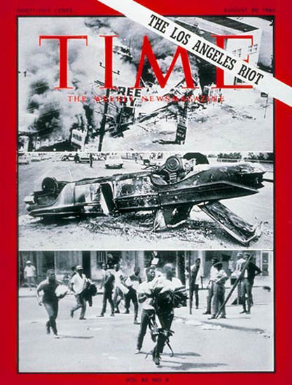1965-08 Los Angeles Riot Copyright Time Magazine | Time Magazine Covers 1923-1970