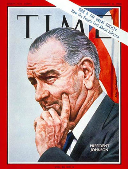 1965-08 Lyndon B Johnson Copyright Time Magazine | Time Magazine Covers 1923-1970