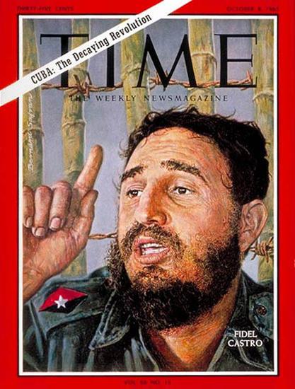 1965-10 Fidel Castro Cuba Copyright Time Magazine | Time Magazine Covers 1923-1970