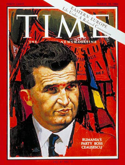1966-03 Nicolae Ceausescu Copyright Time Magazine | Time Magazine Covers 1923-1970