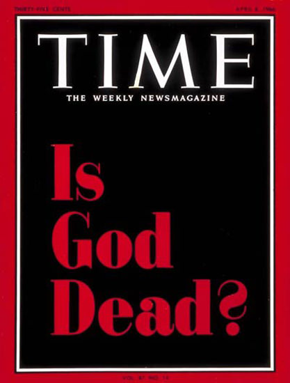 1966-04 Is God Dead Copyright Time Magazine | Time Magazine Covers 1923-1970