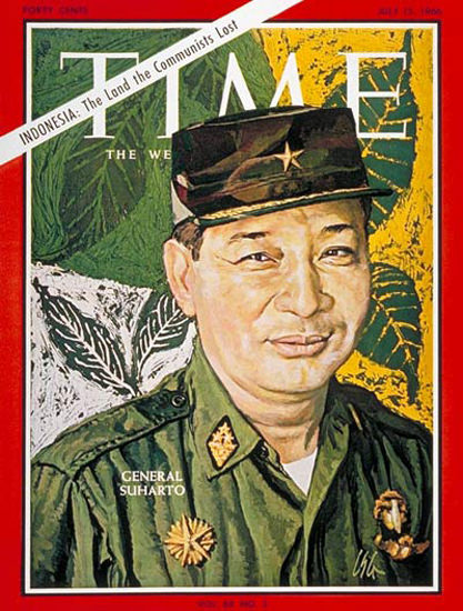 1966-07 General Suharto Copyright Time Magazine | Time Magazine Covers 1923-1970