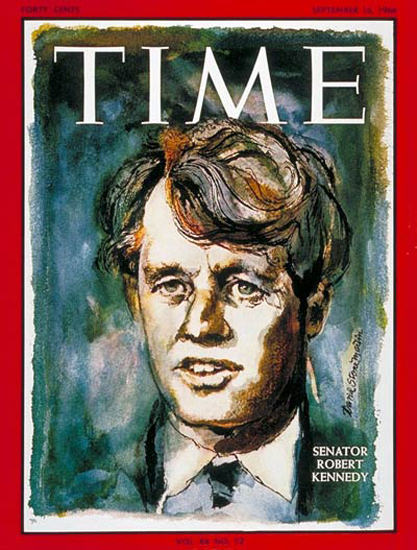 1966-09 Robert F Kennedy Copyright Time Magazine | Time Magazine Covers 1923-1970