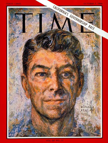 1966-10 Ronald Reagan Copyright Time Magazine | Time Magazine Covers 1923-1970