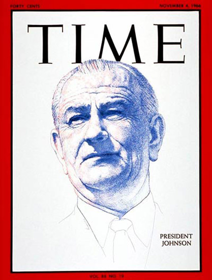 1966-11 Lyndon B Johnson Copyright Time Magazine | Time Magazine Covers 1923-1970