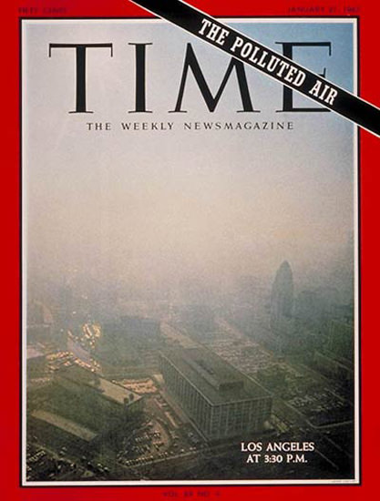 1967-01 Polluted Air Copyright Time Magazine | Time Magazine Covers 1923-1970