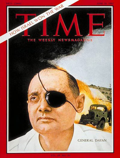 1967-06 General Moshe Dayan Copyright Time Magazine | Time Magazine Covers 1923-1970