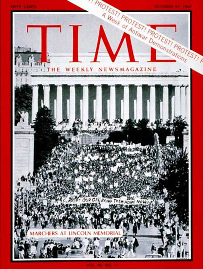 1967-10 Peace Marchers Copyright Time Magazine | Time Magazine Covers 1923-1970