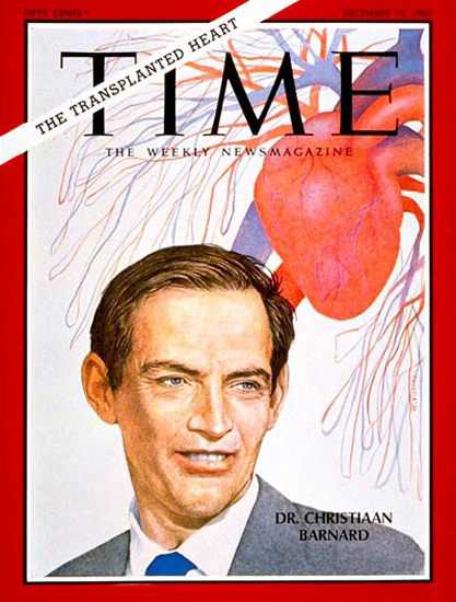 1967-12 Dr Christiaan Barnard Copyright Time Magazine | Time Magazine Covers 1923-1970