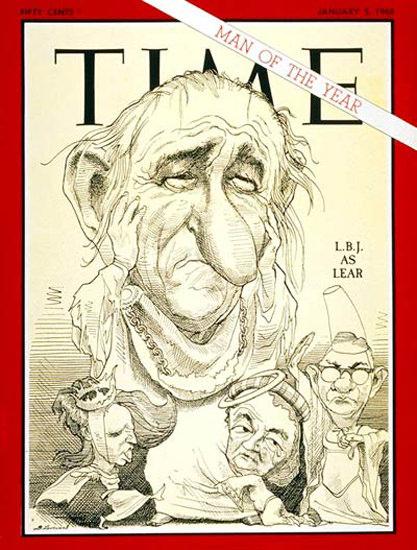 1968-01 Lyndon B Johnson Copyright Time Magazine | Time Magazine Covers 1923-1970
