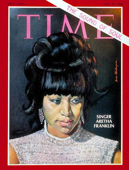 1968-06 Aretha Franklin Copyright Time Magazine | Time Magazine Covers 1923-1970
