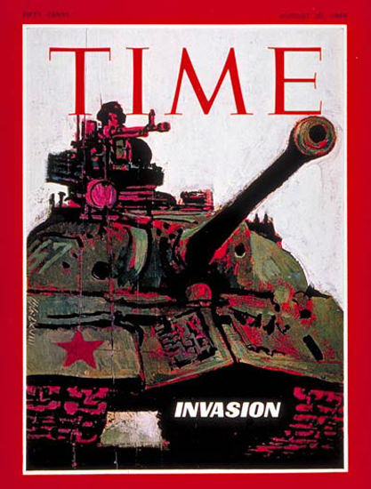 1968-08 Russian Invasion Of Czechoslovakia Copyright Time Magazine | Time Magazine Covers 1923-1970