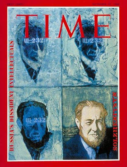 1968-09 Alexander Solzhenitsyn USSR Copyright Time Magazine | Time Magazine Covers 1923-1970