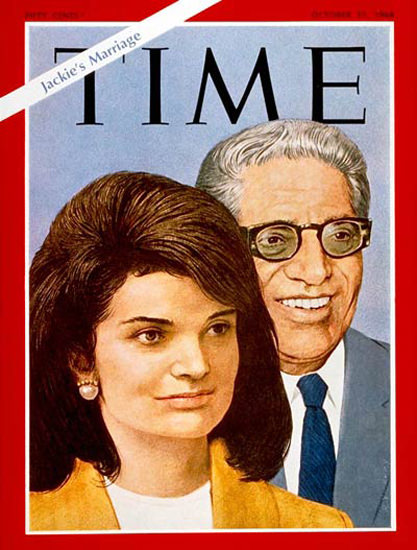 1968-10 Aristotle And Jackie Kennedy Onassis Copyright Time Magazine | Time Magazine Covers 1923-1970