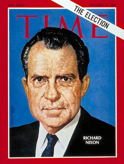 1968-11 Richard Nixon Copyright Time Magazine | Time Magazine Covers 1923-1970