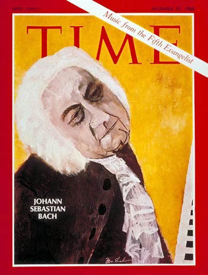 1968-12 Johann Sebastian Bach Copyright Time Magazine | Time Magazine Covers 1923-1970