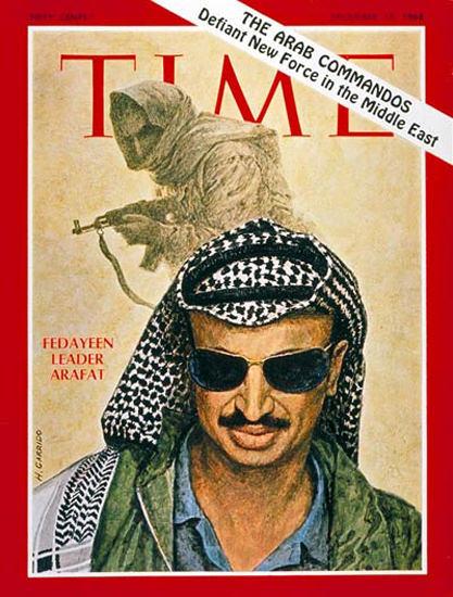 1968-12 Yasser Arafat Copyright Time Magazine | Time Magazine Covers 1923-1970