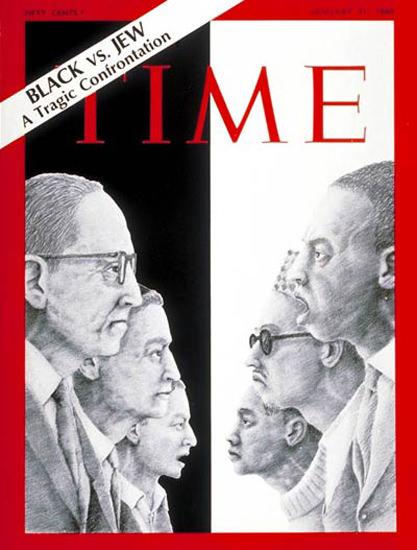 1969-01 Black vs Jew Copyright Time Magazine | Time Magazine Covers 1923-1970