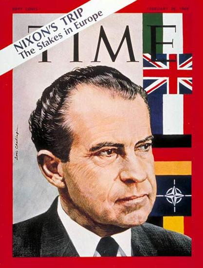 1969-02 Richard Nixon Copyright Time Magazine | Time Magazine Covers 1923-1970