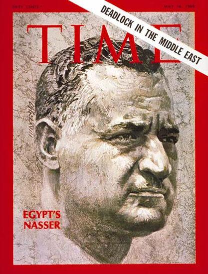 1969-05 Gamal Abdel Nasser Copyright Time Magazine | Time Magazine Covers 1923-1970