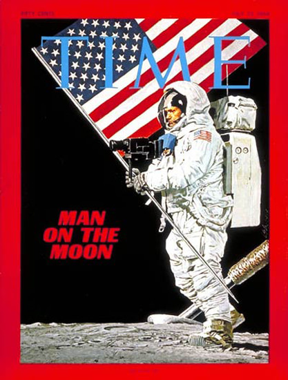 1969-07 Neil Armstrong on the Moon Copyright Time Magazine | Time Magazine Covers 1923-1970