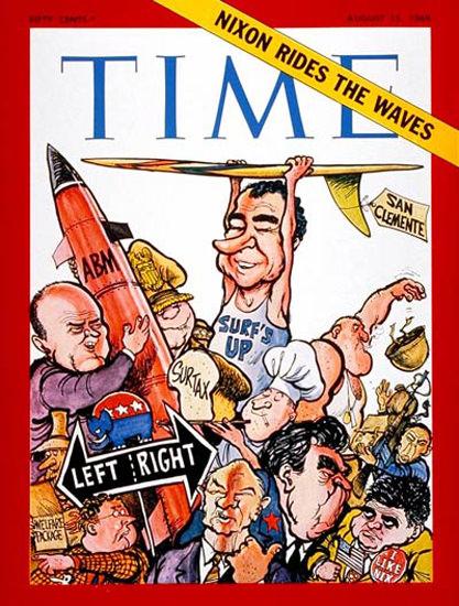 1969-08 The Nixon Presidency Copyright Time Magazine | Time Magazine Covers 1923-1970