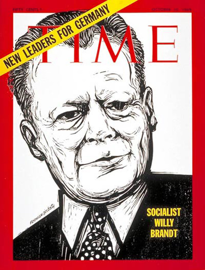 1969-10 Willy Brandt Germany Copyright Time Magazine | Time Magazine Covers 1923-1970