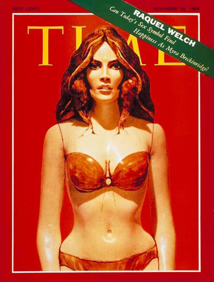 1969-11 Raquel Welch Sex Symbol Copyright Time Magazine | Time Magazine Covers 1923-1970