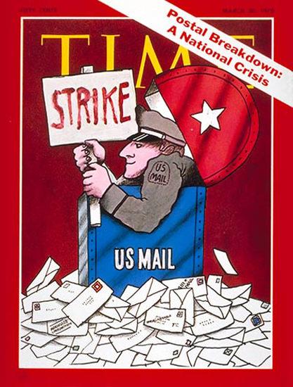 1970-03 US Postal Strike Copyright Time Magazine | Time Magazine Covers 1923-1970