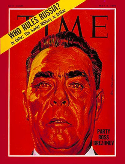 1970-05 Leonid Brezhnev Copyright Time Magazine | Time Magazine Covers 1923-1970