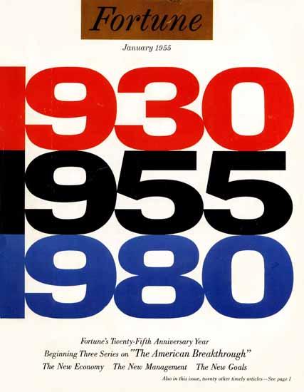 25th Anniversary Issue Fortune Magazine January 1955 Copyright | Fortune Magazine Graphic Art Covers 1930-1959