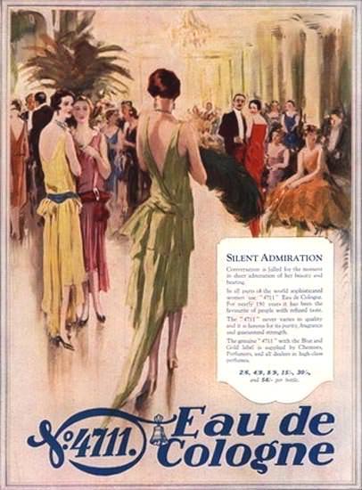 4711 Eau De Cologne Silent Admiration | Sex Appeal Vintage Ads and Covers 1891-1970