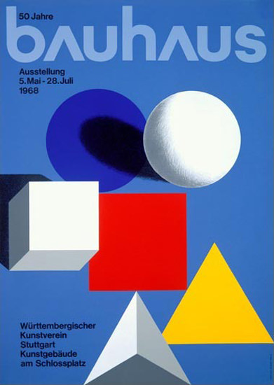 50 Jahre Bauhaus Ausstellung 1968 Stuttgart | Vintage Ad and Cover Art 1891-1970