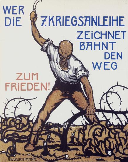 7 Kriegsanleihe Weg Zum Frieden Germany Bonds | Vintage War Propaganda Posters 1891-1970