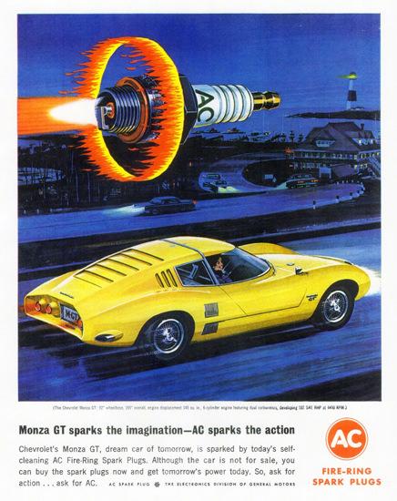 AC Spark Plugs Chevrolet Monza GT 1962 | Vintage Cars 1891-1970