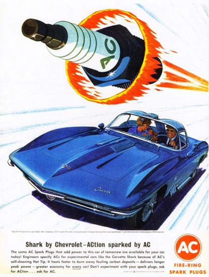AC Spark Plugs Chevrolet XP-755 Corvette 1962 | Vintage Cars 1891-1970