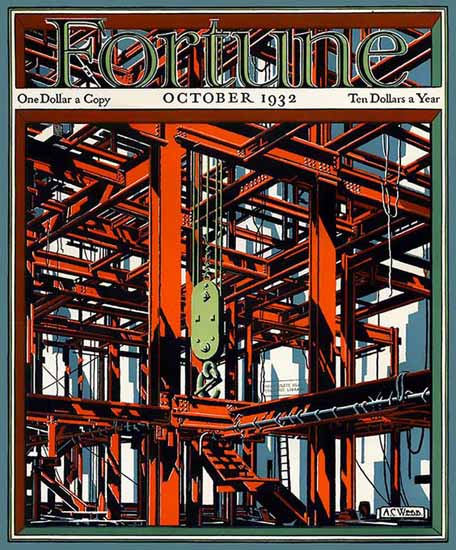 AC Webb Fortune Magazine October 1932 Copyright | Fortune Magazine Graphic Art Covers 1930-1959