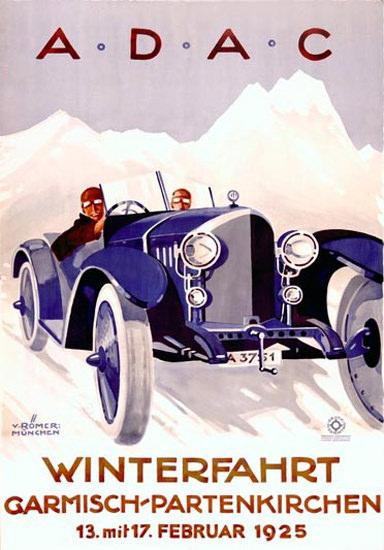 ADAC Winterfahrt Garmisch-Partenkirchen 1925 | Vintage Ad and Cover Art 1891-1970