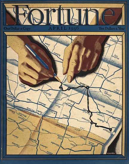AJ Grodin Fortune Magazine April 1936 Copyright | Fortune Magazine Graphic Art Covers 1930-1959
