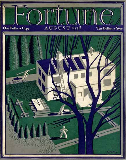 AJ Grodin Fortune Magazine August 1936 Copyright | Fortune Magazine Graphic Art Covers 1930-1959