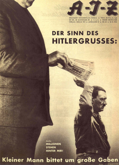 AJZ 1932 Der Sinn Des Hitlergrusses Hitler Salute | Vintage War Propaganda Posters 1891-1970
