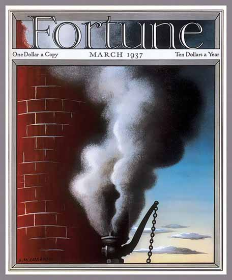 AM Cassandre Fortune Magazine March 1937 Copyright | Fortune Magazine Graphic Art Covers 1930-1959