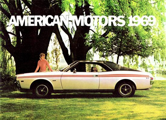 AMC Javelin SST 1969 Striped | Vintage Cars 1891-1970